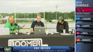 New York Jets wide receiver Eric Decker joins Boomer and Carton to discuss the Jets offense, his health, and playing with Geno Smith.