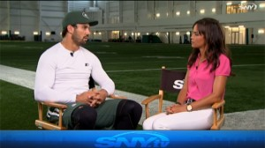 Eric Decker discusses his relationship with quarterback Geno Smith, Smith's performance on the field during the preseason, and his own leadership qualities.