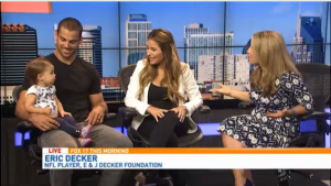 Eric Decker and Jessie James Decker join FOX 17 to talk about the E & J Foundation and their work with dogs in shelters as well as veterans. The foundation helps save dogs from shelters, train them and pair them with service members suffering from PTSD.