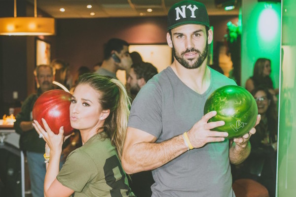Eric and Jessie Host Bowling for Barks