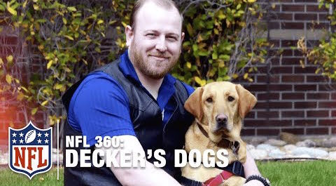 Deckers Dogs: Eric Decker's Foundation For Disabled Vets | NFL 360